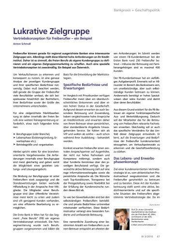 Lukrative Zielgruppe - Bank Information - 03 - die Basis