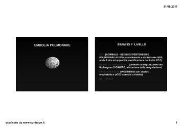 Embolia polmonare - SunHope