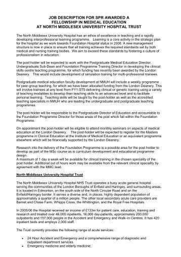 Job description - Faculty Development - London Deanery