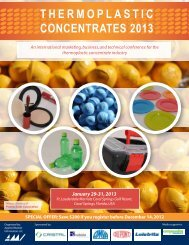 thermoplastic concentrates 2013 - AMI Consulting