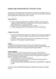 Quelques règles rédactionnelles pour «Geosciences Actuel» - SCNAT