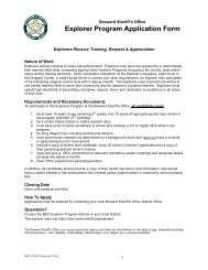 Explorer Program Application Form - Broward Sheriff's Office