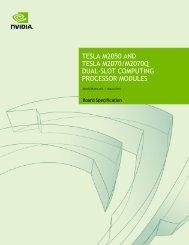 Tesla M2050 / M2070 GPU Module Specification Document - Nvidia