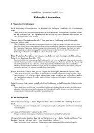Philosophie: Literaturtipps - Gymnasium Neufeld