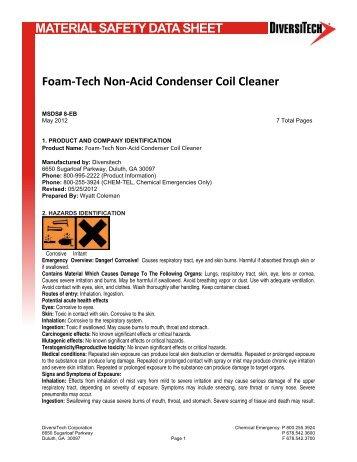 Foam-Tech Non-Acid Condenser Coil Cleaner - media - DiversiTech