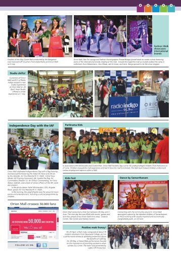 Orion Mall crosses 50,000 fans - Brigade Group