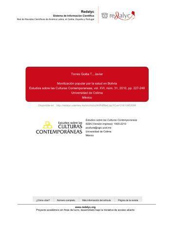 Redalyc.Movilización popular por la salud en Bolivia - Inicio ...