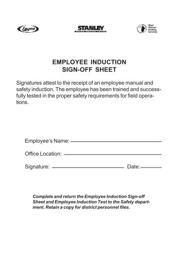 employee orientation test