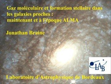 Gaz moleculaire dans les galaxies spirales proches - Graal