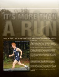lack of sight not a hindrance for gordon cross country runner