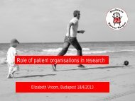 The role of patient organisations - CARE-NMD