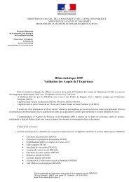 Bilan statistique 2009 de la VAE dans les - DRJSCS rhone-alpes