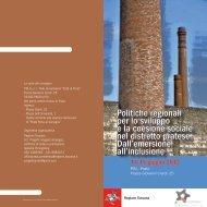 Politiche regionali per lo sviluppo e la coesione sociale nel distretto ...