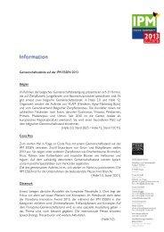 Gemeinschaftsstände auf der IPM ESSEN 2013 Belgien Im Rahmen ...