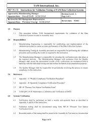 MI-7.5.1-31 Revision A - TAM International - Web Portal