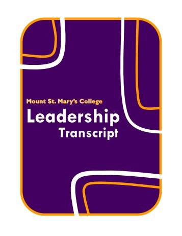 Leadership Transcript - Mount St. Mary's College