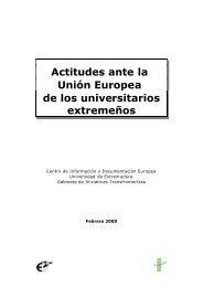 Actitudes ante la Unión Europea de los universitarios extremeños