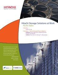 Hitachi Storage Solutions at Work - Hitachi Data Systems