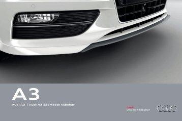 Tilbehørsbrosjyre Audi A3
