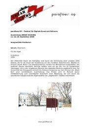 www.paraflows.at paraflows 09 – Festival für Digitale Kunst und ...