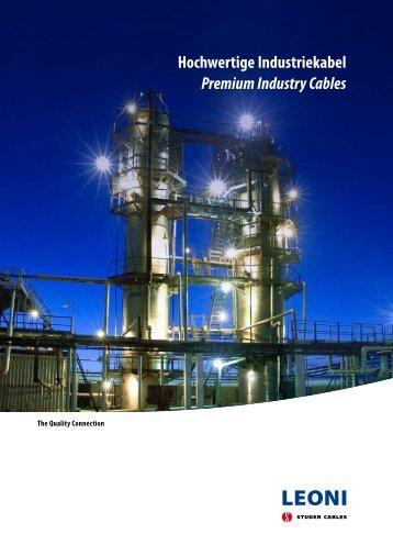 Hochwertige Industriekabel Premium Industry Cables - LEONI ...