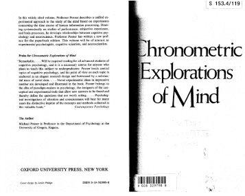 Posner 81 - Chronome.. - Bases, Corpus, Langage