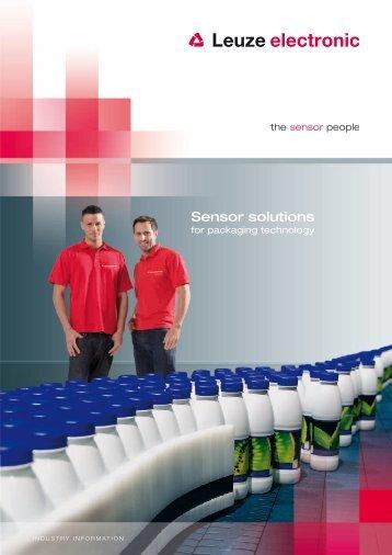 Sensor solutions - Leuze electronic