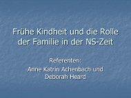 Frühe Kindheit und die Rolle der Familie in der NS-Zeit