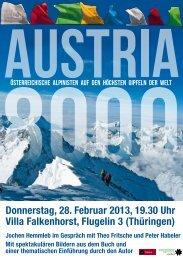 Donnerstag, 28. Februar 2013, 19.30 Uhr Villa Falkenhorst ... - Tyrolia