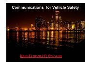 Communications for Vehicle Safety