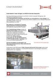 Automatische Linear-Anlagen für höchste Ansprüche