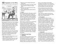 Office Ergonomics Pamphlet