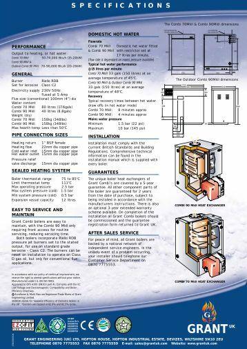 SB474 COMBI BROCHURE - Free boiler manuals