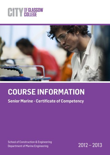 COURSE INFORMATION - City of Glasgow College