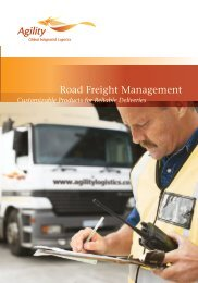 Road Freight Management - Agility