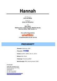 Hannah Presseheft - Hachenburger Filmfest