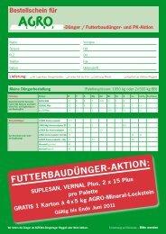 FUTTERBAUDÜNGER-AKTION: - LANDI Weinland
