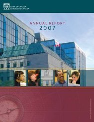 Annual Report 2007 - Bank of Canada