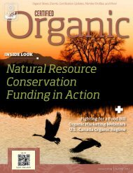 Natural Resource Conservation Funding in Action - CCOF