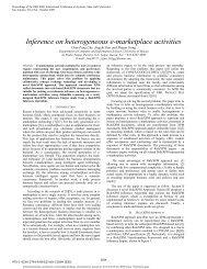 Inference on heterogeneous e-marketplace activities