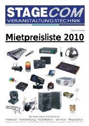 Mietpreisliste 2010 - Eventlokale.com