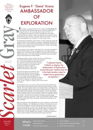 ambassador of exploration - Central Catholic High School :: K ...