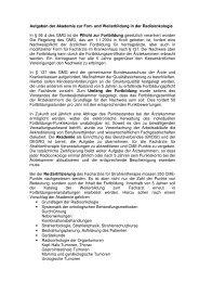 Aufgaben der Akademie zur Fort- und Weiterbildung in der ... - DEGRO