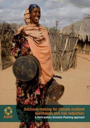 Decision-making for climate resilient livelihoods and risk reduction: