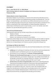 STATEMENT Prim. o. Univ.-Prof. Dr. Dr. h.c. Heinz Drexel - ÖDG