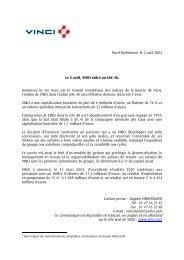 Rueil-Malmaison, le 2 avril 2002 Le 3 avril, VINCI entre au CAC 40 ...