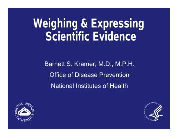 Weighing & Expressing Scientific Evidence