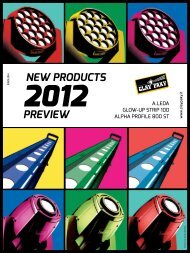 New Products 2012 - Clay Paky