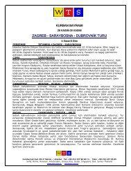 Zagreb Saraybosna Dubrovnik Kurban 2009 - World Travel Service
