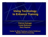 Using Technology to Enhance Training presentation